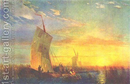 Rush on Dnieper near Aleshki by Ivan Konstantinovich Aivazovsky - Reproduction Oil Painting