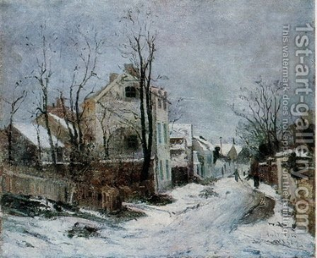 Winter at Barbizon by Ion Andreescu - Reproduction Oil Painting