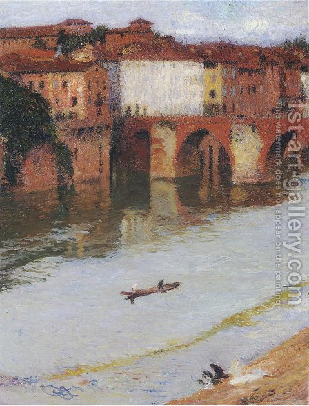 The Old Bridge by Henri Martin - Reproduction Oil Painting