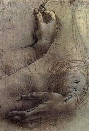 Reproduction oil paintings - Leonardo Da Vinci - Study of Arms and Hands, a sketch by da Vinci popularly considered to be a preliminary study for the painting 'Lady with an Ermine'