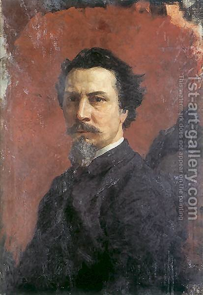 Unfinished Self-portrait by Henryk Hector Siemiradzki - Reproduction Oil Painting