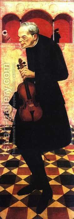 Violinist by Alexandre Jacovleff - Reproduction Oil Painting