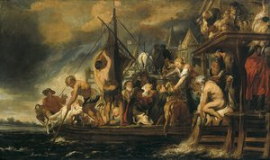 Famous paintings of Ships & Boats: The Miracle of the Obol in the Mouth of the Fish
