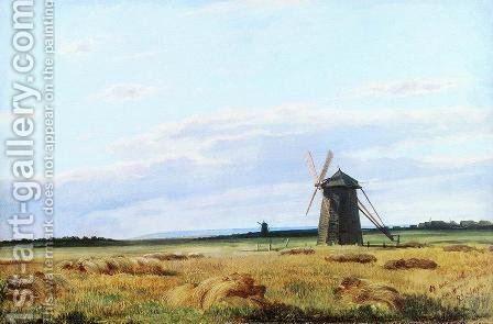 Windmill in the field by Ivan Shishkin - Reproduction Oil Painting