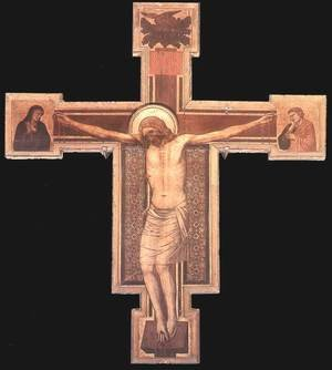 Reproduction oil paintings - Giotto Di Bondone - The Crucifixion 4