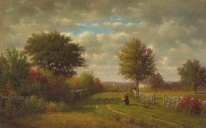 Reproduction oil paintings - George Inness - Going To Market