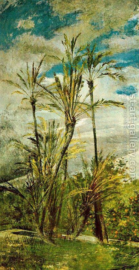 Wall Paintings of Falconiera by Giovanni Boldini - Reproduction Oil Painting
