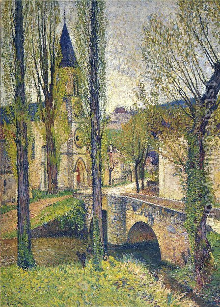 Church in Labastide 2 by Henri Martin - Reproduction Oil Painting