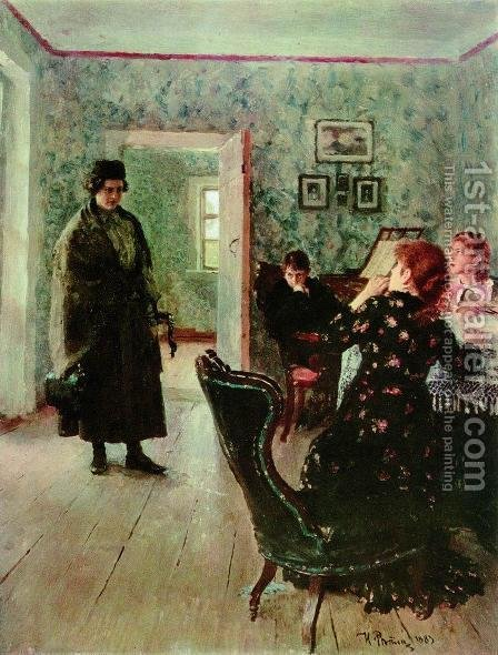 Not expected by Ilya Efimovich Efimovich Repin - Reproduction Oil Painting