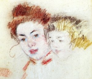 Reproduction oil paintings - Mary Cassatt - Sketch of Reine and Child
