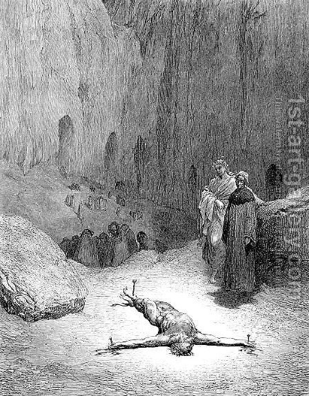 Crucified man by Gustave Dore - Reproduction Oil Painting