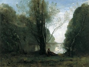 Reproduction oil paintings - Jean-Baptiste-Camille Corot - The Solitude. Recollection of Vigen, Limousin 2