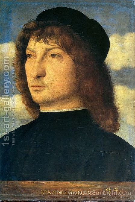 Portrait of a venetian gentleman by Giovanni Bellini - Reproduction Oil Painting