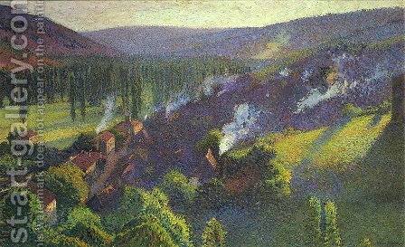 Labastide du Vert in the Lot by Henri Martin - Reproduction Oil Painting