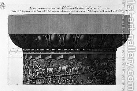 Demonstration in great capitals of the columns of Trajan by Giovanni Battista Piranesi - Reproduction Oil Painting
