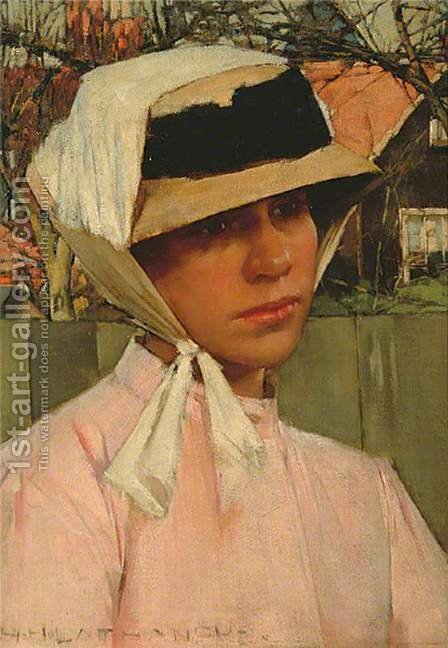 Portrait of a Young Girl by Henry Herbert La Thangue - Reproduction Oil Painting
