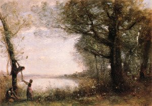 Reproduction oil paintings - Jean-Baptiste-Camille Corot - The Little Nest Harriers