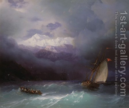 Stormy Sea 3 by Ivan Konstantinovich Aivazovsky - Reproduction Oil Painting