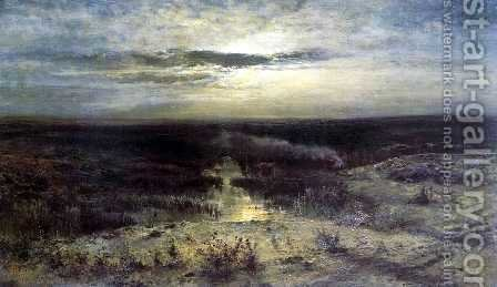 Moonlit night. Marsh by Alexei Kondratyevich Savrasov - Reproduction Oil Painting
