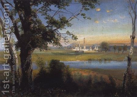 Novodevichy Convent by Alexei Kondratyevich Savrasov - Reproduction Oil Painting