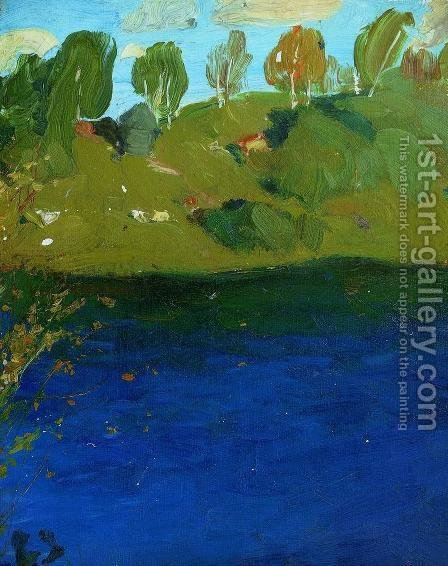 Lake. Autumn. 2 by Isaak Ilyich Levitan - Reproduction Oil Painting