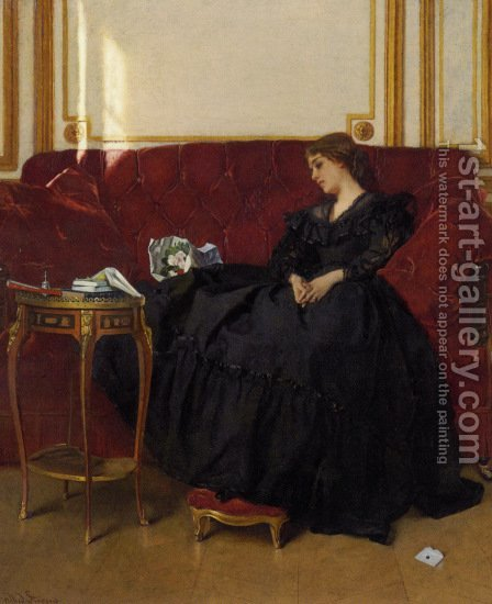 Widow by Alfred Stevens - Reproduction Oil Painting