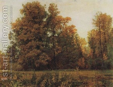 Autumn by Ivan Shishkin - Reproduction Oil Painting