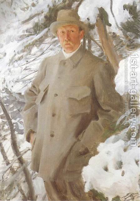 The Painter Bruno Liljefors by Anders Zorn - Reproduction Oil Painting