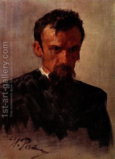 Head of a Man 3 by Ilya Efimovich Efimovich Repin - Reproduction Oil Painting