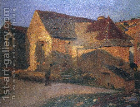 The Old House in the Last Rays by Henri Martin - Reproduction Oil Painting