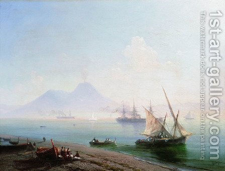 The Bay of Naples in the morning 2 by Ivan Konstantinovich Aivazovsky - Reproduction Oil Painting