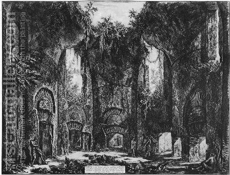 Vedute di Roma 80 by Giovanni Battista Piranesi - Reproduction Oil Painting