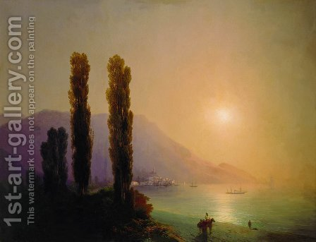 Sunrise on the coast of Yalta by Ivan Konstantinovich Aivazovsky - Reproduction Oil Painting