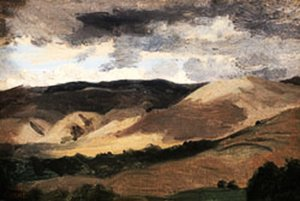 Reproduction oil paintings - Jean-Baptiste-Camille Corot - Mountains of  Auvergne
