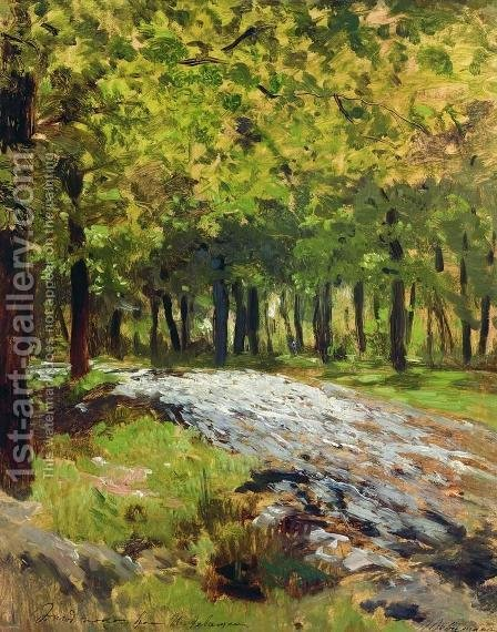 Path in the forest 2 by Isaak Ilyich Levitan - Reproduction Oil Painting