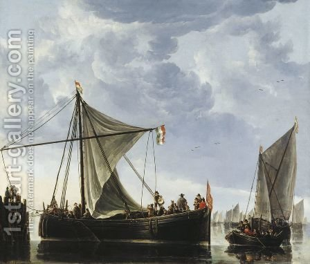 The Passage Boat by Aelbert Cuyp - Reproduction Oil Painting