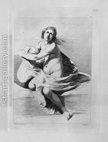 Study for the Adulteress half figure with folded arms, from Guercino by Giovanni Battista Piranesi - Reproduction Oil Painting