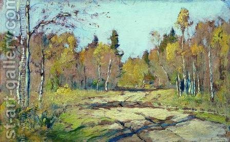 Sunny autumn day by Isaak Ilyich Levitan - Reproduction Oil Painting