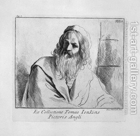 Bust of old man by Giovanni Battista Piranesi - Reproduction Oil Painting