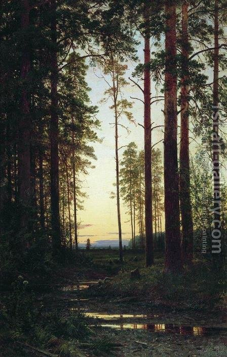 Twilight by Ivan Shishkin - Reproduction Oil Painting