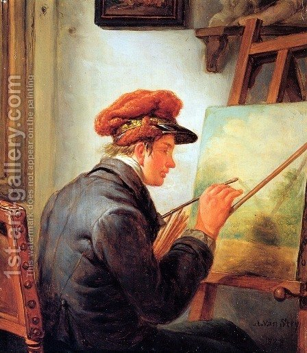 The artist's son by Abraham van, I Strij - Reproduction Oil Painting