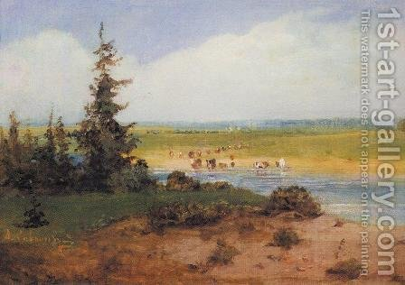 Summer Landscape by Alexei Kondratyevich Savrasov - Reproduction Oil Painting