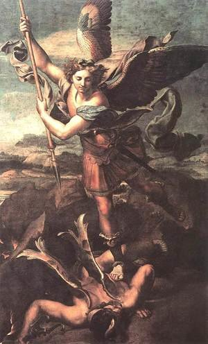Reproduction oil paintings - Raphael - St. Michael Overwhelming the Demon