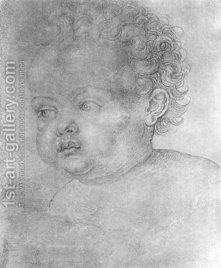 Child's head 2 by Albrecht Durer - Reproduction Oil Painting