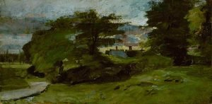 Reproduction oil paintings - John Constable - Landscape with Cottages