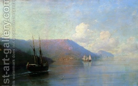 Crimean coast 2 by Ivan Konstantinovich Aivazovsky - Reproduction Oil Painting