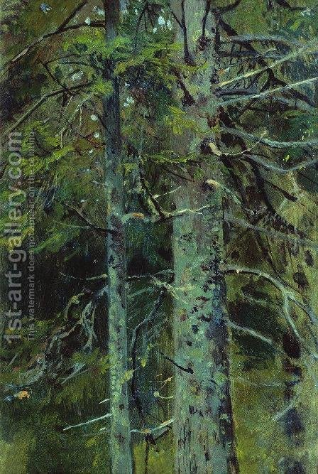 Forest 11 by Ivan Shishkin - Reproduction Oil Painting
