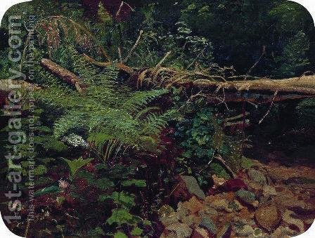 Landscape 6 by Ivan Shishkin - Reproduction Oil Painting