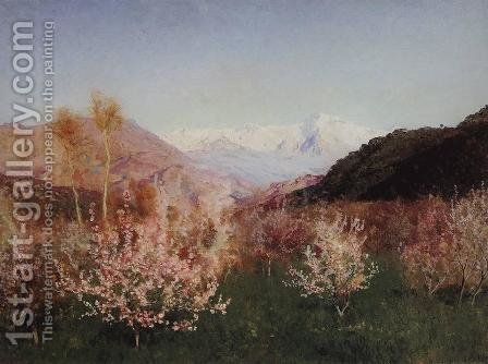 Springtime in Italy by Isaak Ilyich Levitan - Reproduction Oil Painting