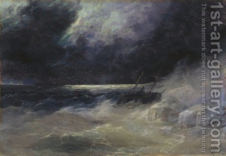 The Tempest 2 by Ivan Konstantinovich Aivazovsky - Reproduction Oil Painting